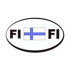 FI Flag Decal Oval Car Magnet