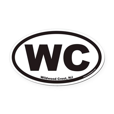 Wildwood Crest WC Euro Oval Car Magnet