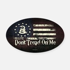 DTOM - Snake Flag Oval Car Magnet