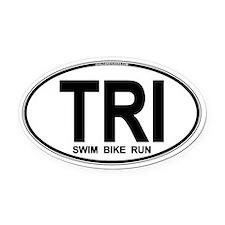 TRI (Triatlete) Euro Oval Car Magnet (Oval)