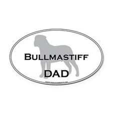 Bullmastiff DAD Oval Car Magnet