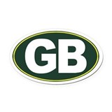 Green bay Oval Car Magnets