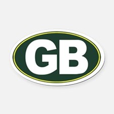 GB - Green Bay - Oval Car Magnet