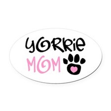 YORKIE Oval Car Magnet