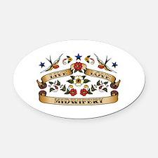Live Love Midwifery Oval Car Magnet