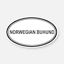 Norwegian Buhund Oval Car Magnet