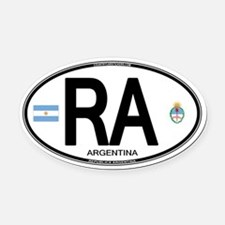 Argentina Euro Oval Oval Car Magnet
