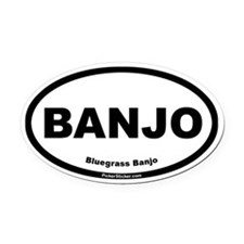 Bluegrass Banjo Oval Car Magnet