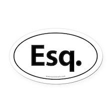 Esq. Euro Style Auto Oval Car Magnet -White