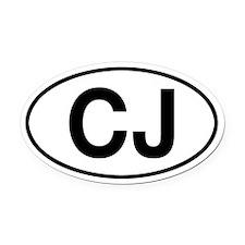CJ Civilian Jeep Oval Car Magnet