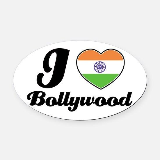 I love Bollywood Oval Car Magnet