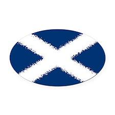 Scottish Flag Oval Car Magnet