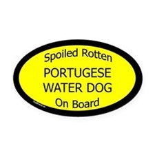 Spoiled Portugese Water Dog Oval Car Magnet