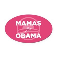 Mama for Obama Oval Car Magnet