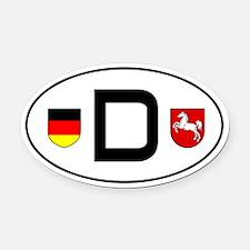 Germany car Oval Car MagnetNiedersachsen variant)