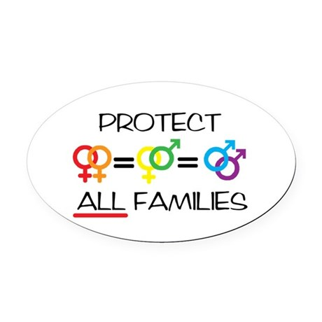 Protect ALL Families Oval Car Magnet