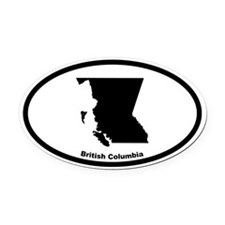 British Columbia Canada Outline Oval Car Magnet