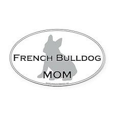 French Bulldog MOM Oval Car Magnet