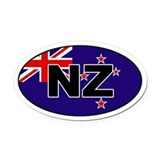 New zealand Oval Car Magnets