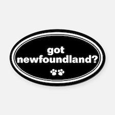 Got Newfoundland? Oval Car Magnet