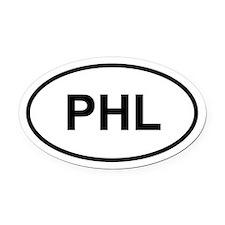 PHL Oval Car Magnet