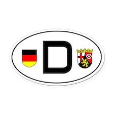 Germany car Oval Car MagnetRheinland-Pfalz variant