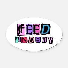 Feed Lindsay (ransom) Oval Car Magnet