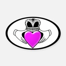 Breast Cancer Awareness Oval Car Magnet