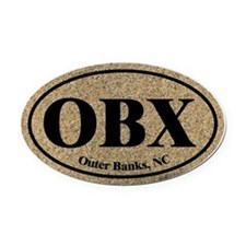 Outer Banks OBX Euro Oval Oval Car Magnet