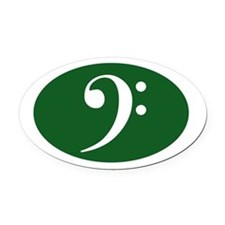 Bass Clef Oval Car Magnetgreen)