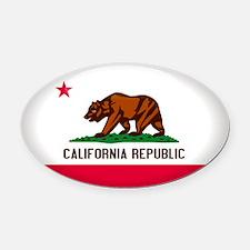 California Crest Oval Car Magnet