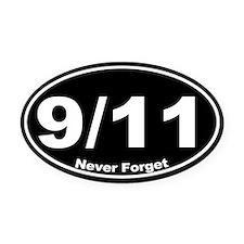 9 11 Never Forget Oval Car Magnet