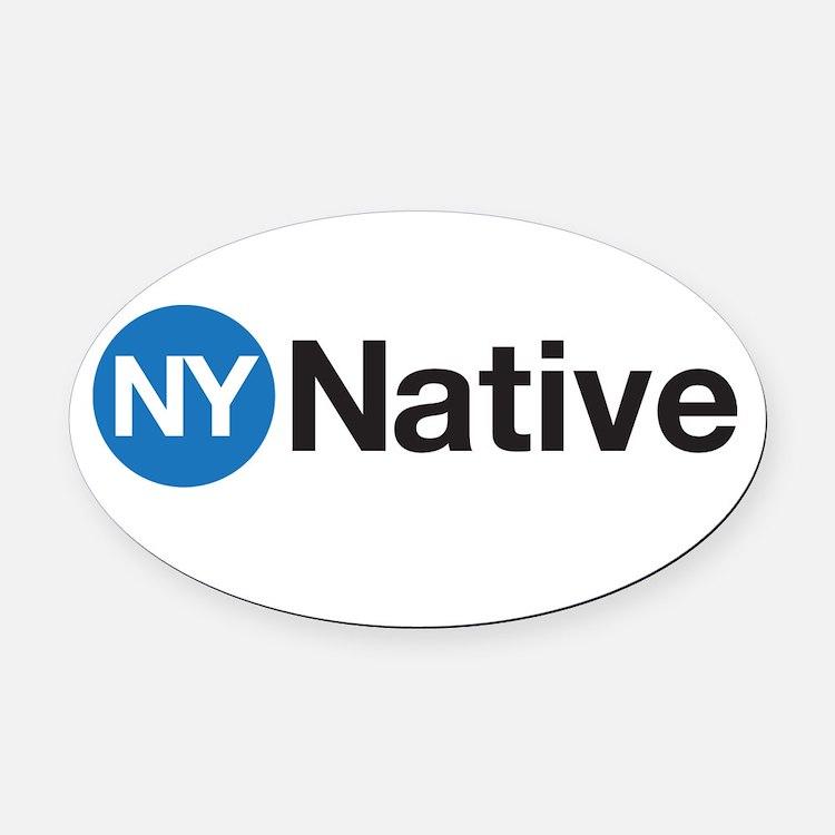 NY Native Subway Oval Car Magnet