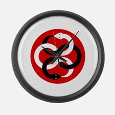 Double Oroborous (Red) Large Wall Clock