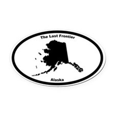 Alaska Nickname Oval Car Magnet