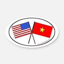 Oval Car Magnet USA/Vietnam