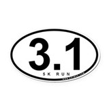 5 k Oval Car Magnets