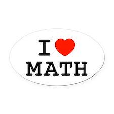I Heart Math Oval Car Magnet