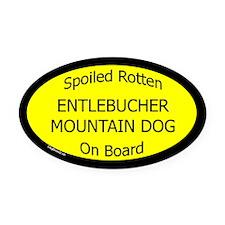 Spoiled Entlebucher Mountain Dog Oval Car Magnet