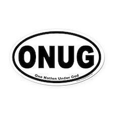 One Nation Under God ONUG Oval Car Magnet