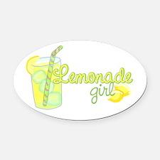 Lemonade Girl Oval Car Magnet