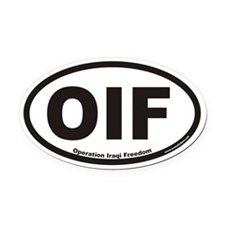 Operation Iraqi Freedom OIF Euro Oval Car Magnet