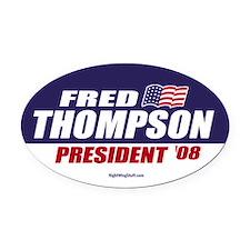 Fred Thompson for President 2008 Oval Car Magnet