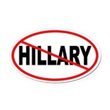 Anti hillary Oval Car Magnets