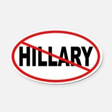 No Hillary Oval Car Magnet