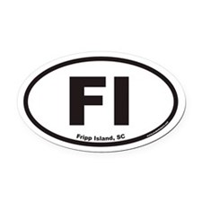 Fripp Island FI Euro Oval Car Magnet