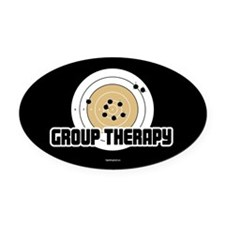 Group Therapy - Guns Oval Car Magnet