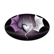 Dragon Love Oval Car Magnet