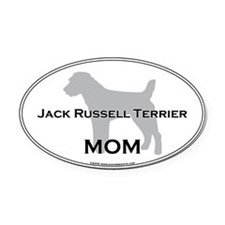 Jack Russell MOM Oval Car Magnet