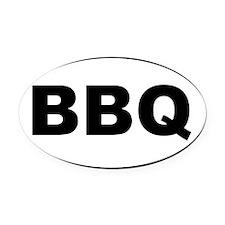 BBQ Oval Car Magnet